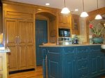 Kitchen - Stained and Glazed Maple with Painted and Rub Thru on Island