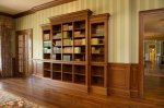 Cherry bookcase & wainscot panels